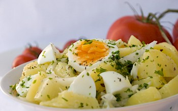 Potato salad with egg - calories, nutrition, weight