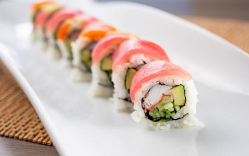 Rainbow roll sushi - calories, nutrition, weight