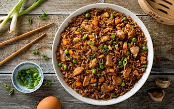Pork fried rice - calories, nutrition, weight