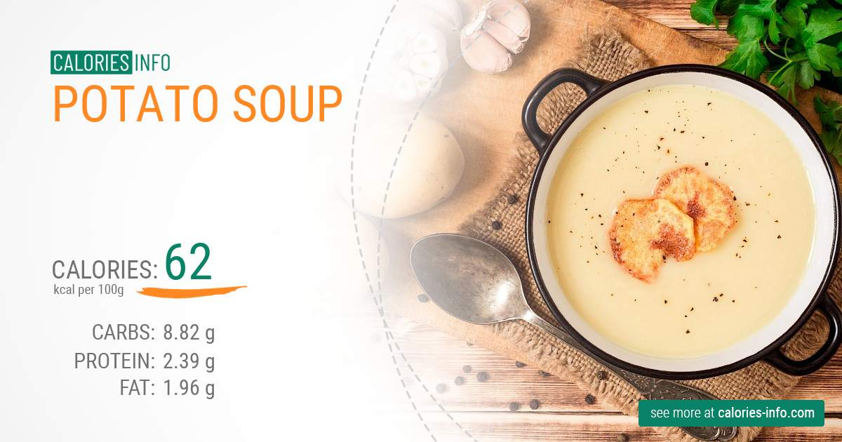 Potato soup - caloies, wieght