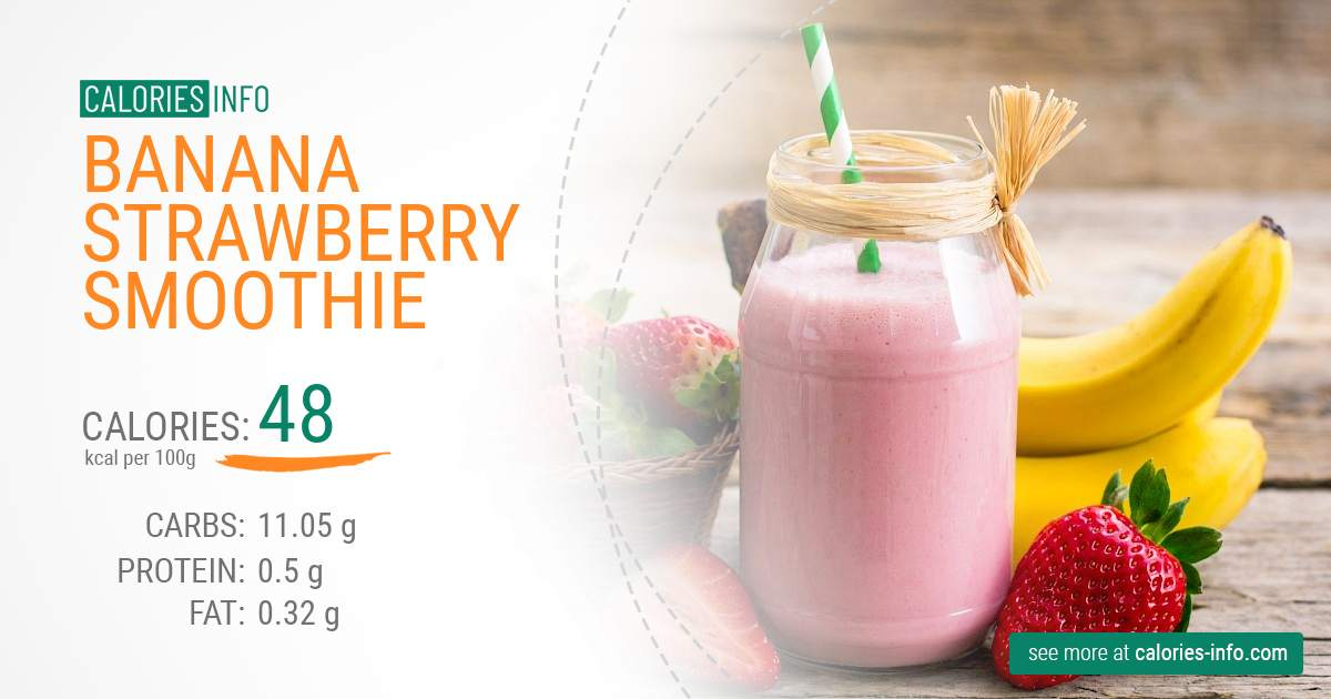 Banana strawberry smoothie - caloies, wieght