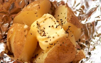 Baked potato with butter - calories, nutrition, weight
