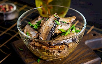 Cooked sardines - calories, nutrition, weight
