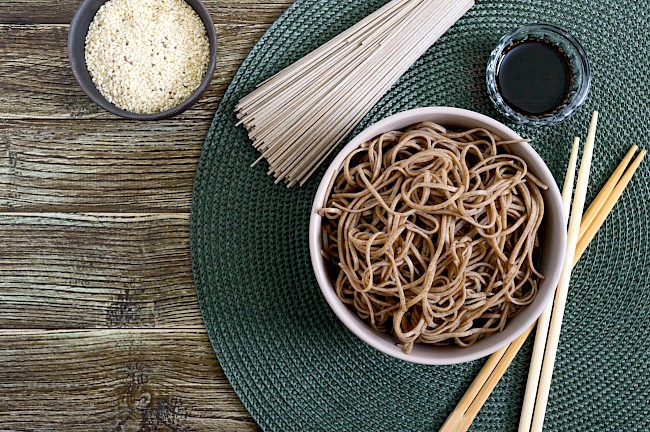 Cooked soba noodles - calories, kcal