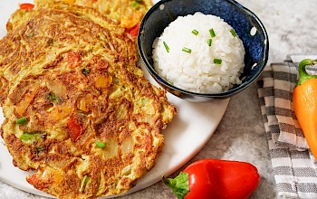 Egg foo yung - calories, nutrition, weight