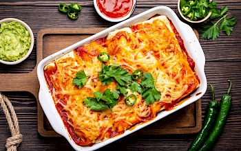 Cheese enchilada - calories, nutrition, weight