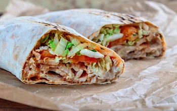 Chicken shawarma - calories, nutrition, weight