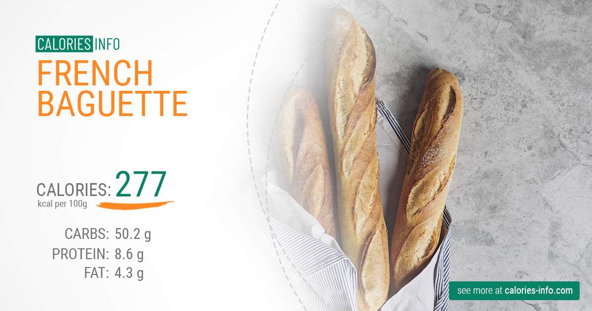 French baguette - caloies, wieght