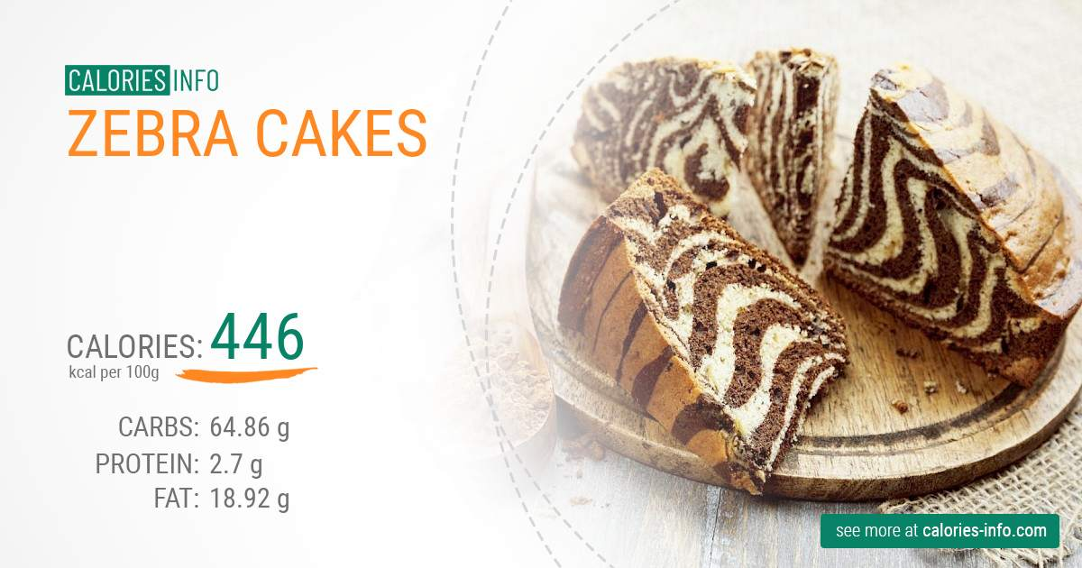 Zebra cakes - caloies, wieght