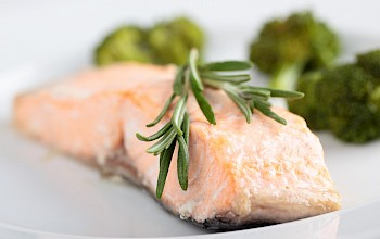 Baked salmon - calories, nutrition, weight