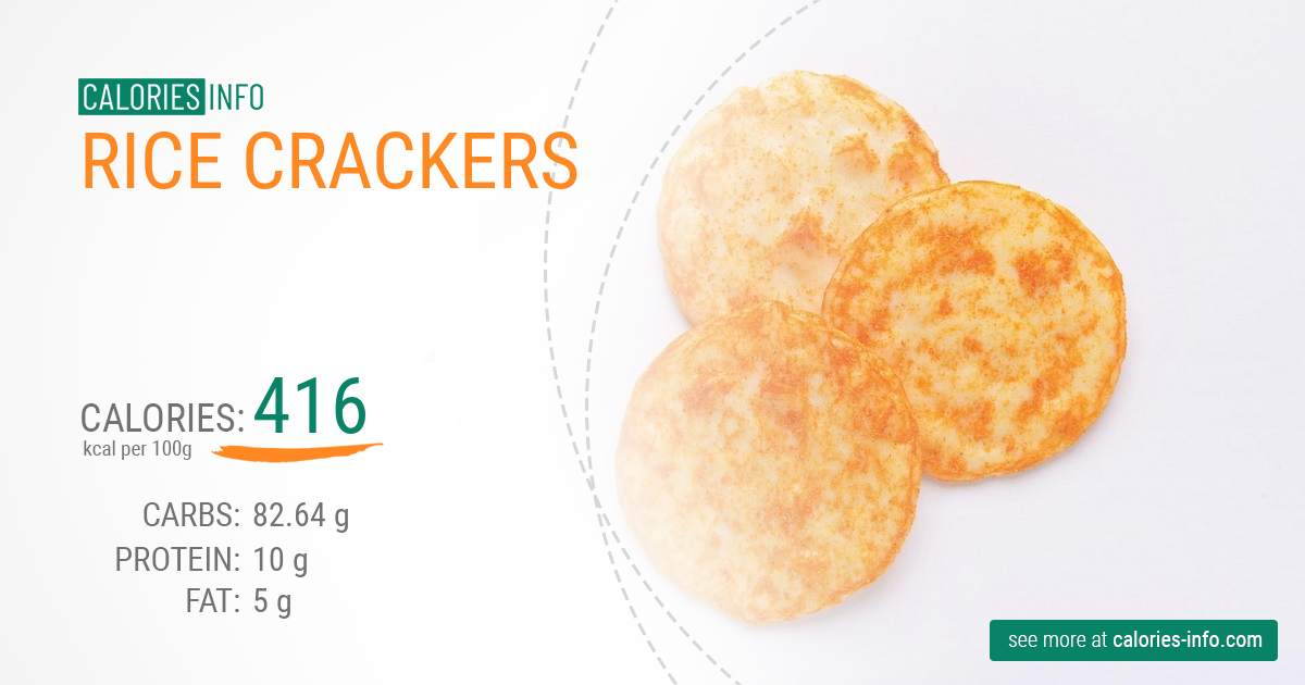 Rice crackers - caloies, wieght