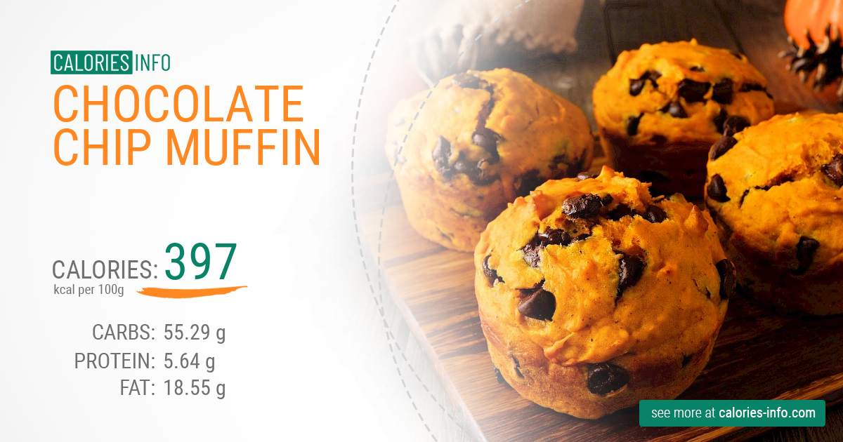 Chocolate chip muffin - caloies, wieght