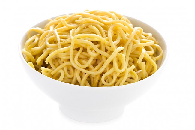 Cooked egg noodles - calories, kcal