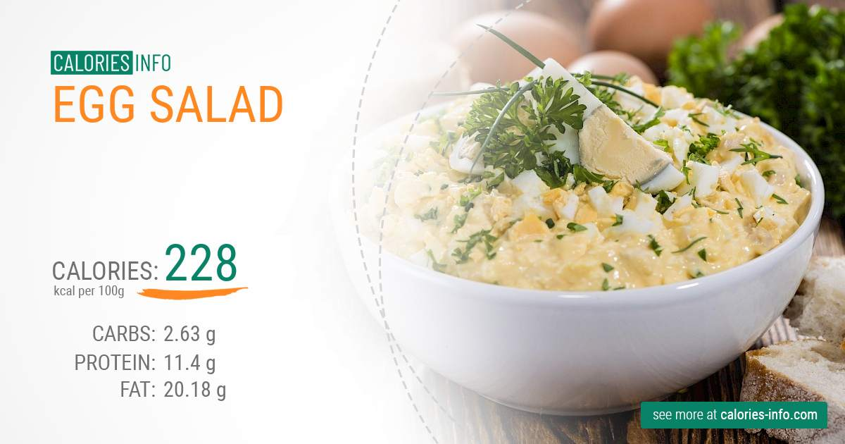 Egg salad - caloies, wieght