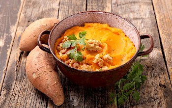 Sweet potato mash - calories, nutrition, weight