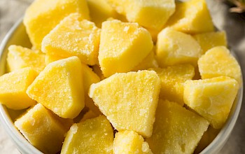 Frozen pineapple chunks - calories, nutrition, weight