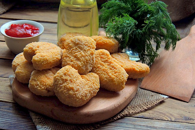 Frozen chicken nuggets - calories, kcal