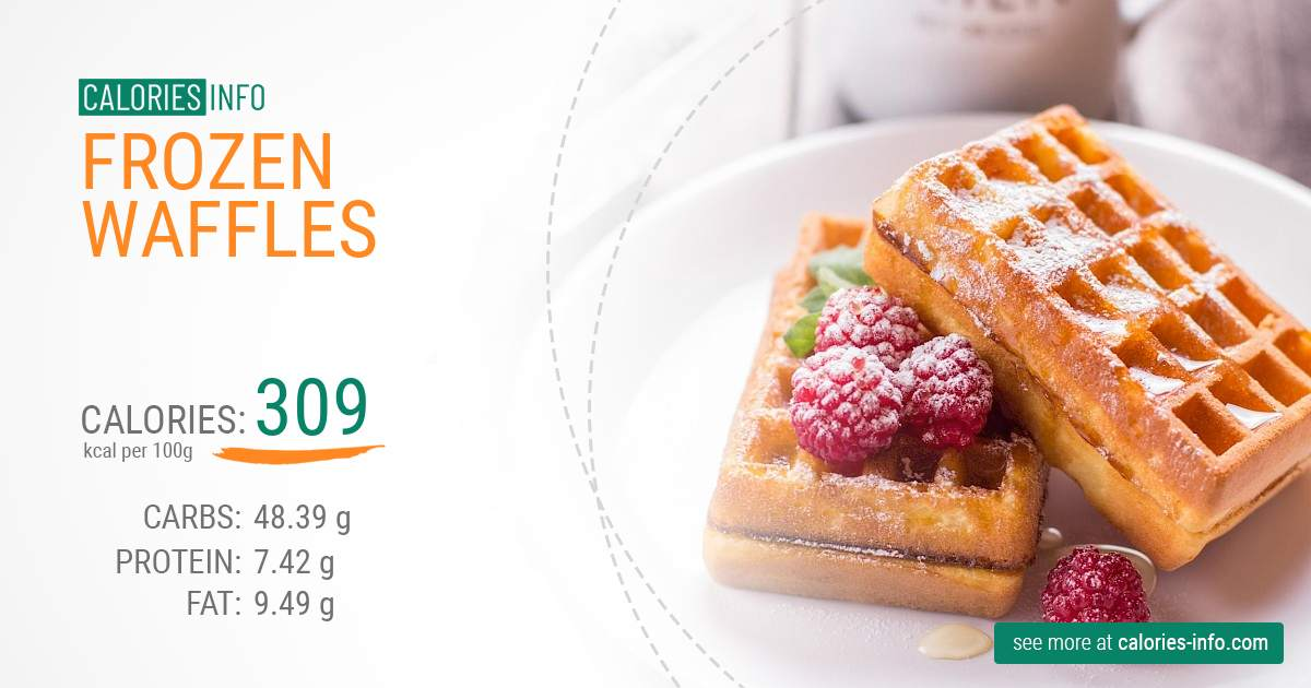 Frozen waffles - caloies, wieght