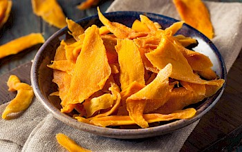 Dried mango - calories, nutrition, weight