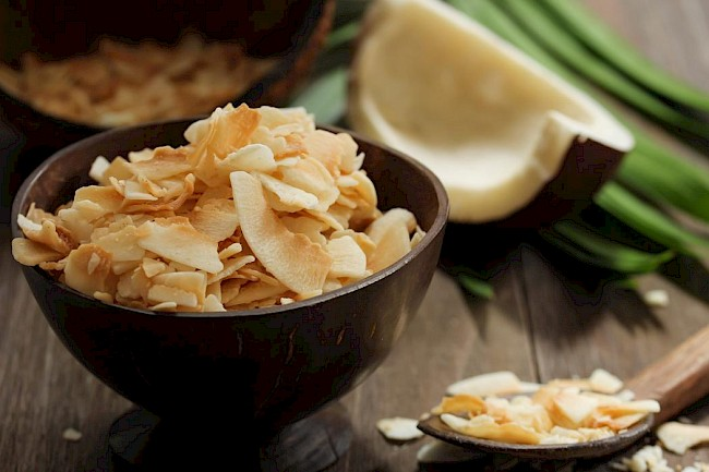 Dried coconut - calories, kcal