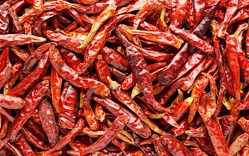 Dried chili peppers - calories, nutrition, weight
