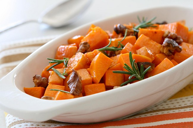 Cooked yam - calories, kcal