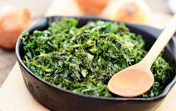 Boiled kale - calories, nutrition, weight