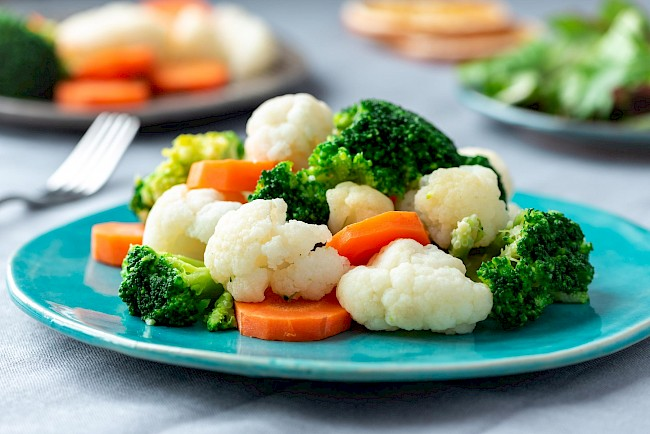 Boiled vegetables - calories, kcal