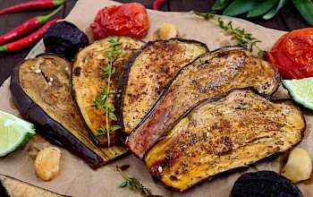 Roasted eggplant - calories, nutrition, weight