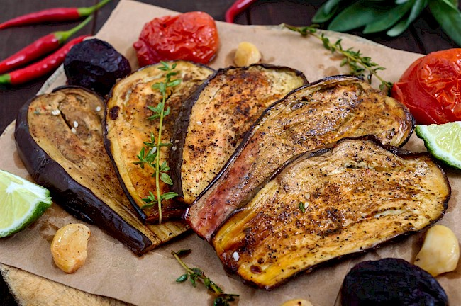 Roasted eggplant - calories, kcal