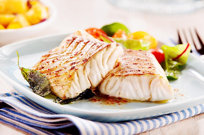 Grilled cod - calories, kcal
