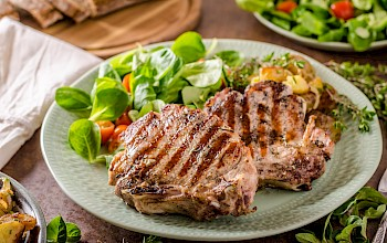 Grilled pork chop - calories, nutrition, weight