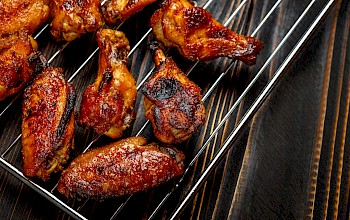 Grilled chicken wing - calories, nutrition, weight