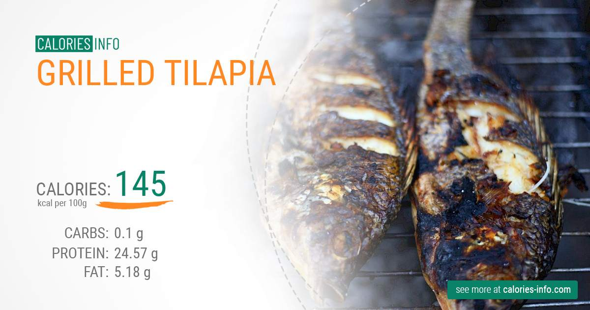 Grilled tilapia - caloies, wieght