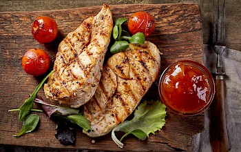 Grilled chicken fillet - calories, nutrition, weight