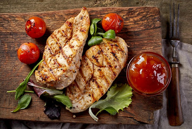 Grilled chicken fillet - calories, kcal