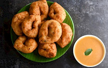 Fried dumpling (vada) - calories, nutrition, weight