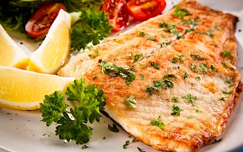 Fried flounder - calories, nutrition, weight