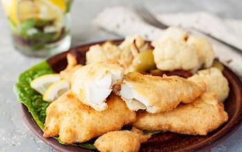 Fried haddock - calories, nutrition, weight