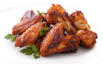 Fried chicken wing - calories, nutrition, weight