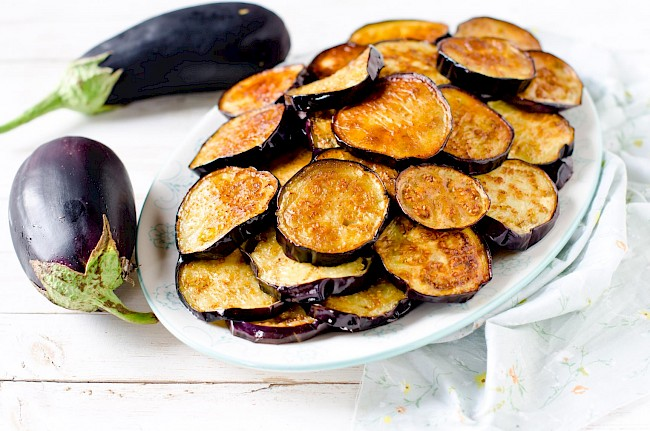 Fried eggplant - calories, kcal