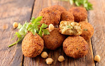 Fried falafel - calories, nutrition, weight