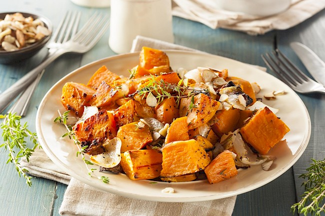 Cooked sweet potato - calories, kcal