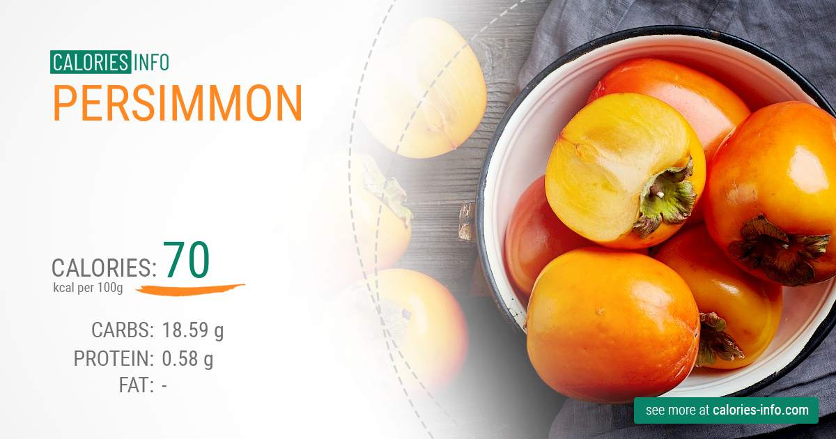 Persimmon - caloies, wieght