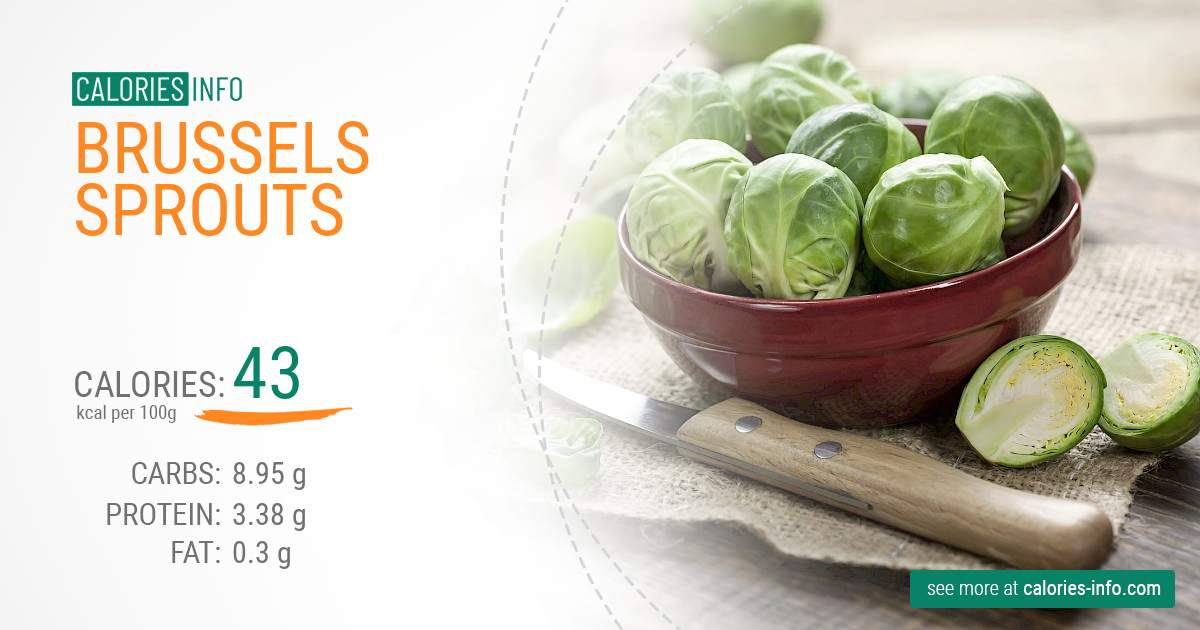 Brussels sprouts - caloies, wieght