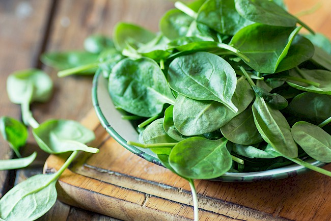 Spinach - calories, kcal