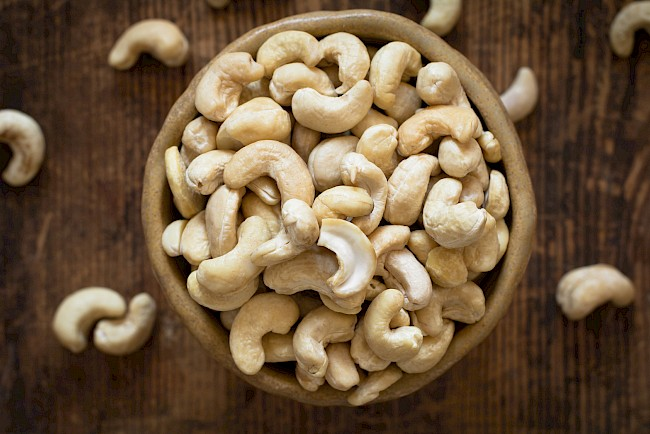 Cashew nuts - calories, kcal, weight, nutrition