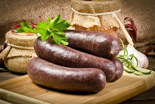 Blood sausage - calories, kcal, weight, nutrition