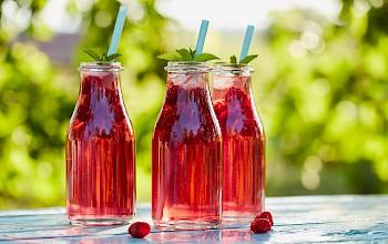 Raspberry juice (syrup) - calories, nutrition, weight