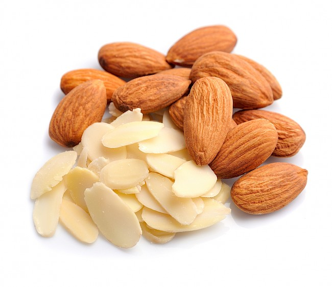 Almond flakes - calories, kcal